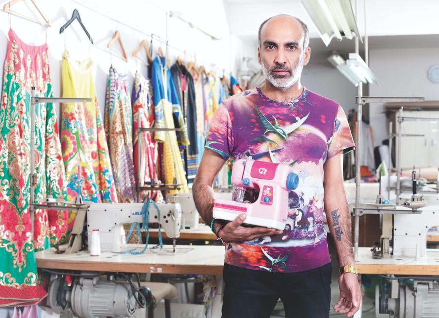 Manish Arora - I have materials around me all over, including fabrics, looks, colours, trims