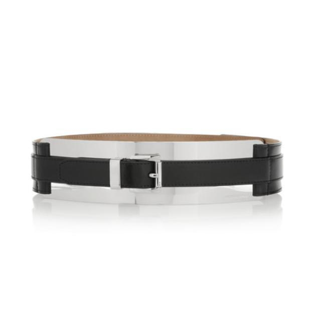 Michael Kors Metal and Leather belt