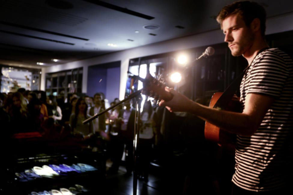 Roo Panes played at Burberry Brit store opening in Delhi