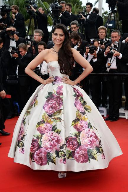 Sonam Kapoor in Dolce & Gabbana at Cannes Film Festival 2013