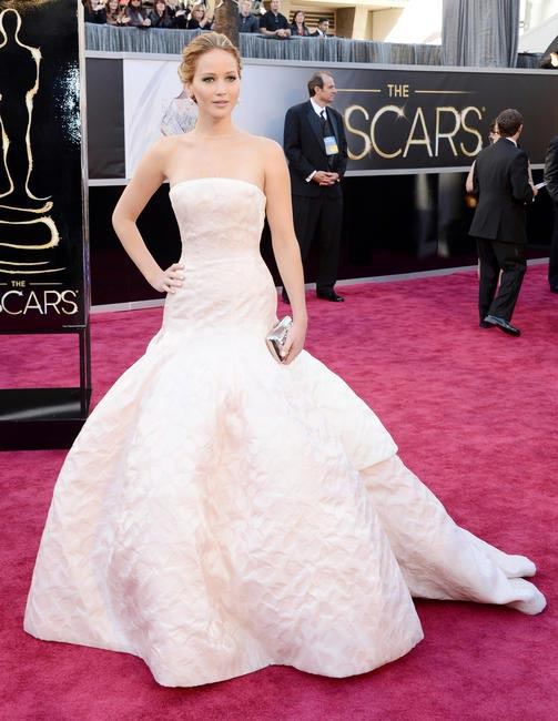 Jennifer Lawrence in Christian Dior