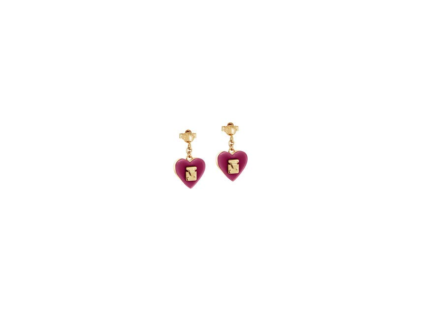 Louis Vuitton Earrings LOCK ME Fuschia
