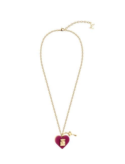 Louis Vuitton Necklace LOCK ME Fuschia
