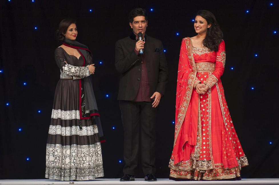 Manish Malhotra with Urmila and Parineeti at Fashion Fundraiser for The Angeli Foundation in London