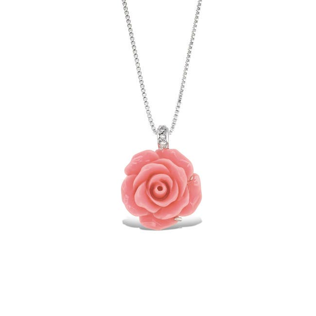 Tanya Rossi rose necklace