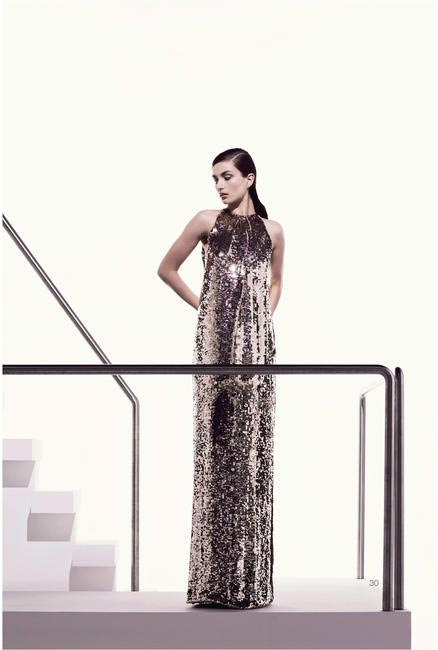 Dior Resort 2013 Gold Evening Dress