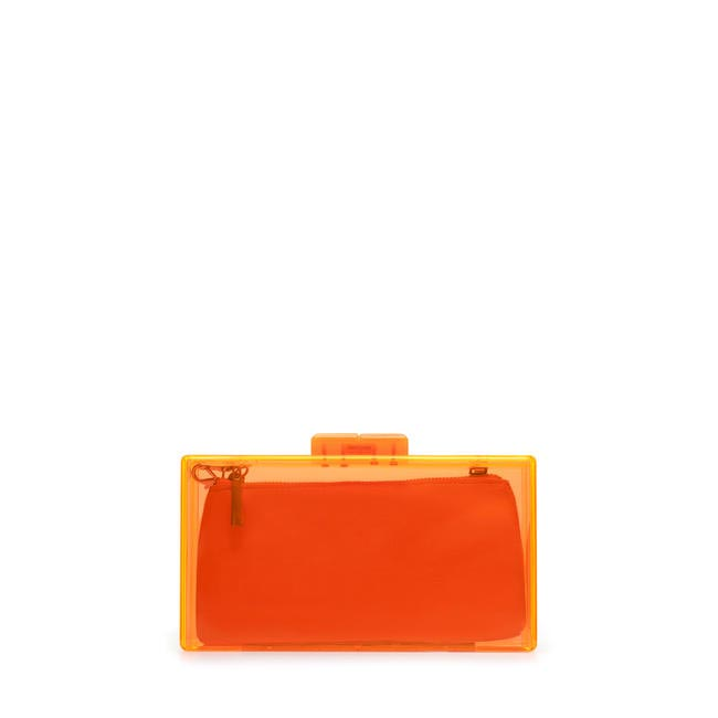 Box Clutch, Zara, Rs.1,790 (Not PVC but water resistant)