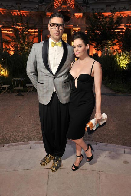 Cameron Silver & Rose McGowan at Petit Palais