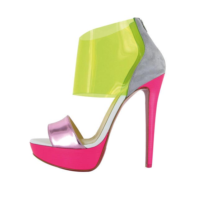 Colour blocked heels, Christian Louboutin, Rs. 59,500