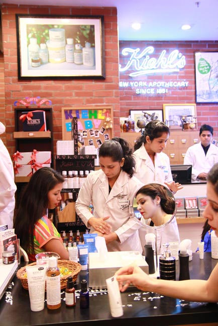 Guests tried it all at Kiehl's