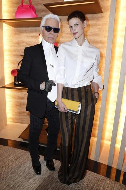 Karl Lagerfeld & Saskia De Brauw