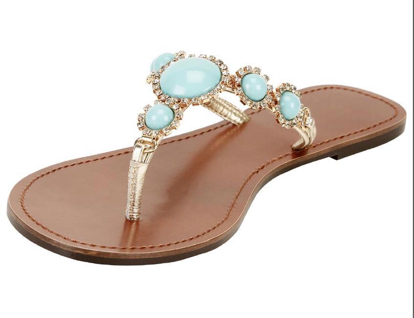 Melissa Odabash for Koovs embellished resortwear slippers