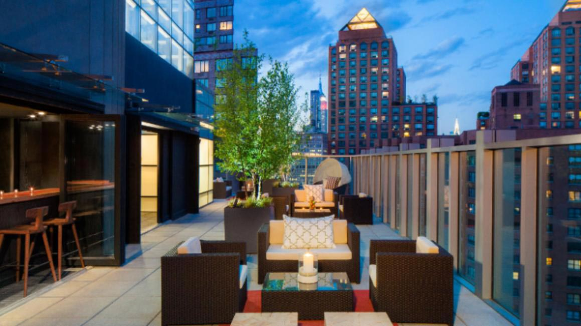 Nothing like a rooftop with a view. Hyatt Union Square rooftop