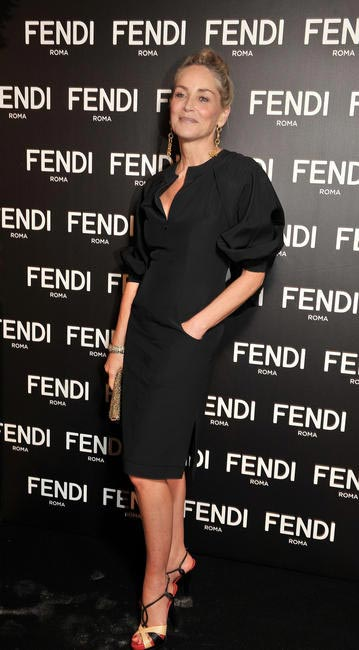 Sharon Stone at the Fendi dinner at Petit Palais