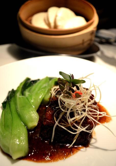 Braised Pork Belly in a Truffle sauce with Mantao