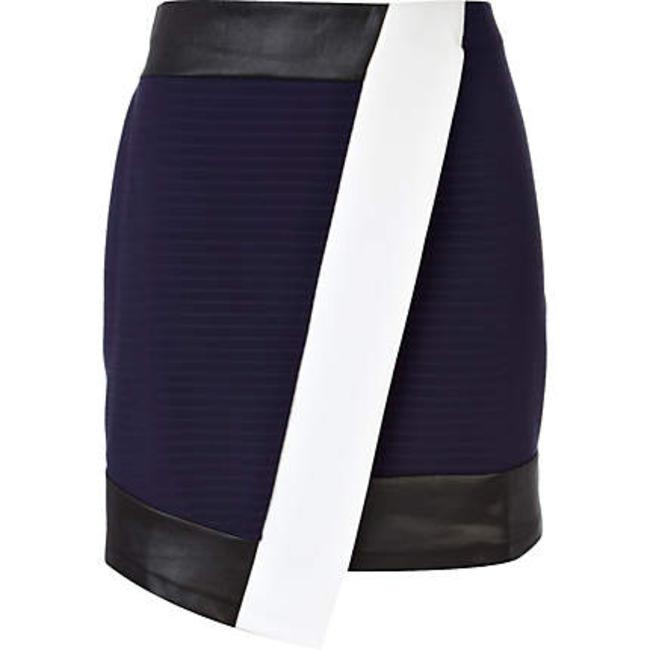 Leather trimmed skirt River Island Rs 5,600