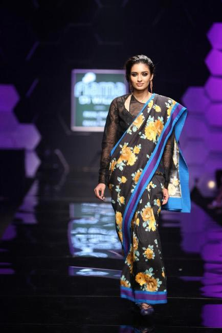 Adorable tapestry inspired prints were the highlight of Payal Pratap's collection at WIFW AW 2013