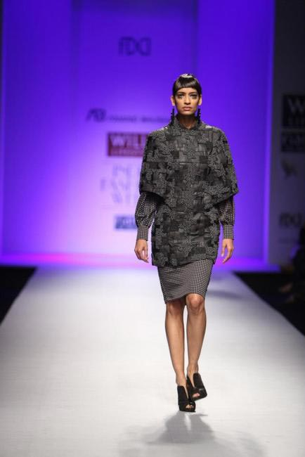 Autumn Winter 2013 by Anand Bhushan is all black and grey.