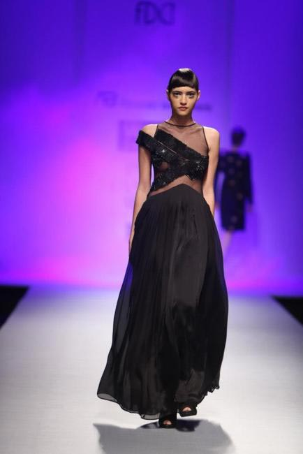 Love this black dress from Anand Bhushan's Autumn Winter 2013 show at WIFW