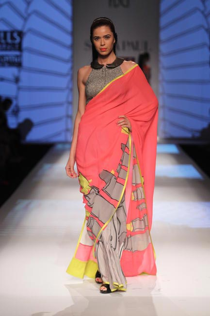 Masaba For Satya Paul Lipstick Sari