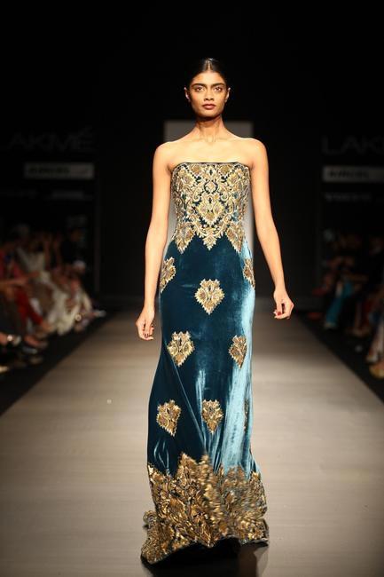 Naeem Khan showcased at Lakme Fashion Week SS 2013