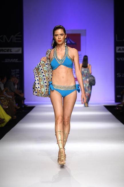 Pia Pauro Bikini and Bag. We love the bag.