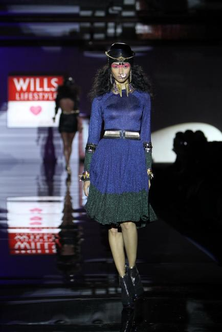 Use of psychedelic colours rocked Manish Arora's AW 13