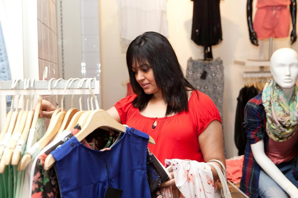 A happy Shopper at Only's Khar outlet