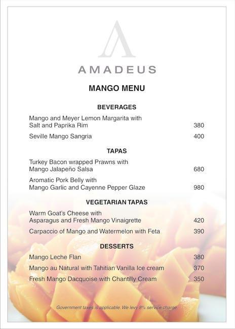 Amadeus - Mango Menu