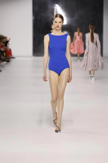 Dior cobalt blue body suit