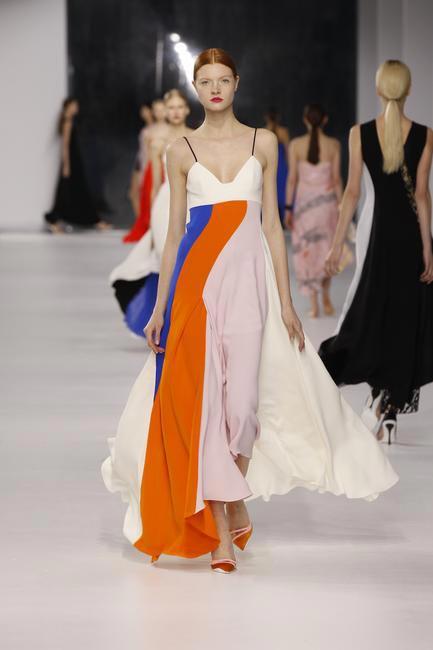 Dior multi-coloured silk dress