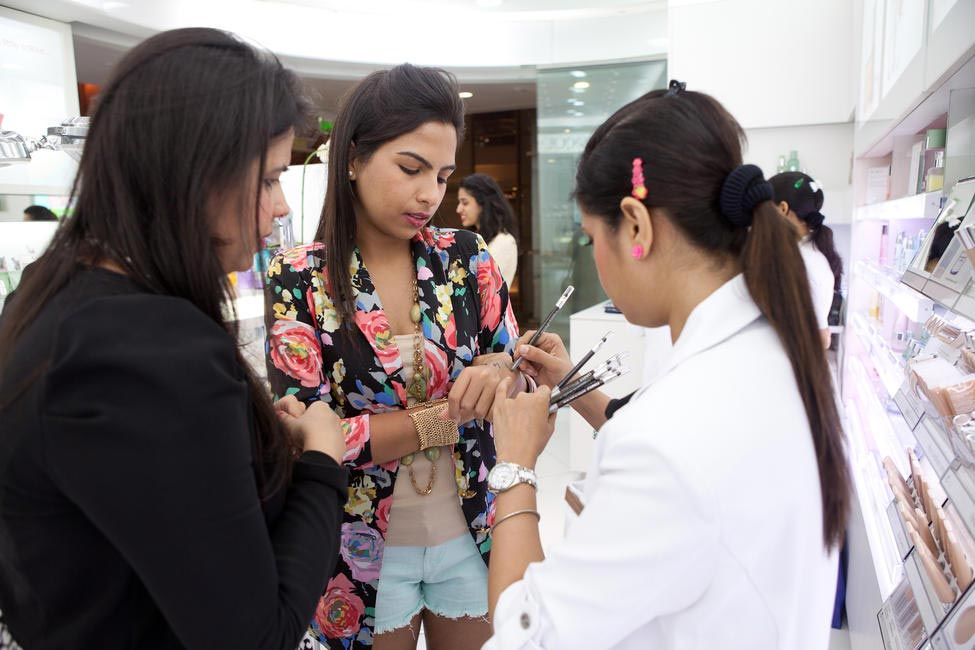 Guests explore Clinique's new range