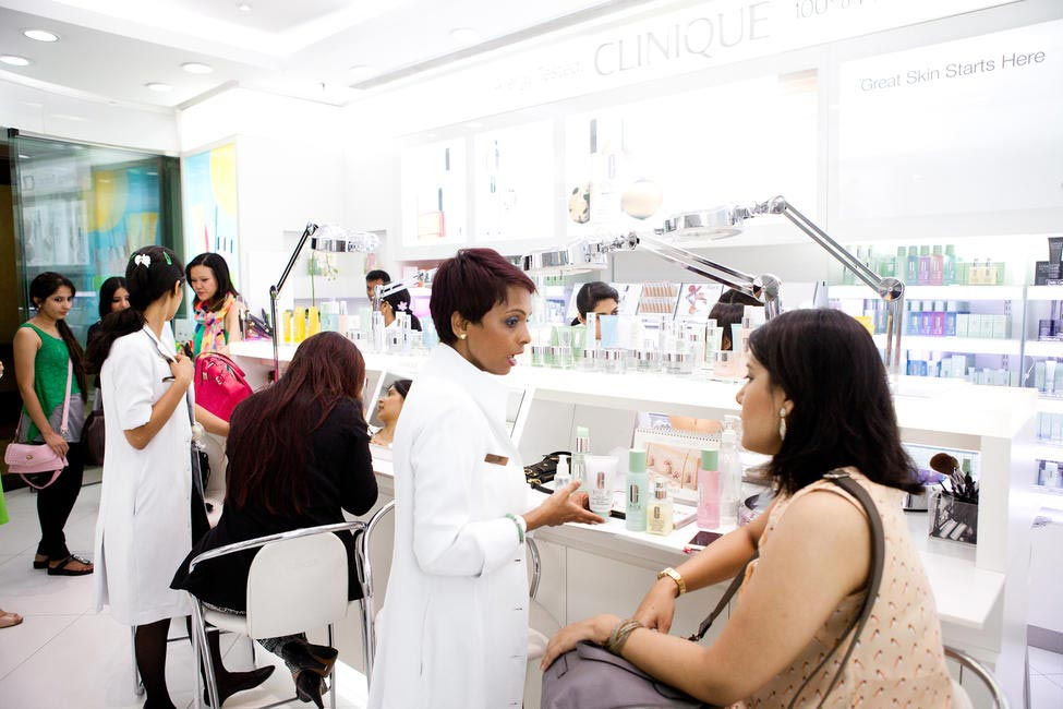 Guests received a detailed consultation by Clinique experts