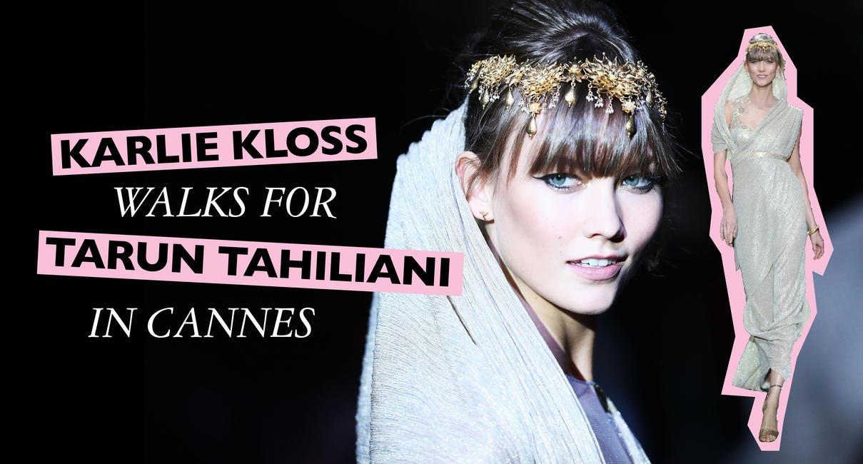 Karlie Kloss walks for Tarun Tahiliani
