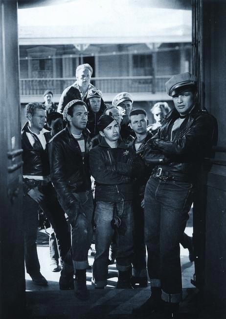 Marlon Brando wearing Levi's in The Wild One