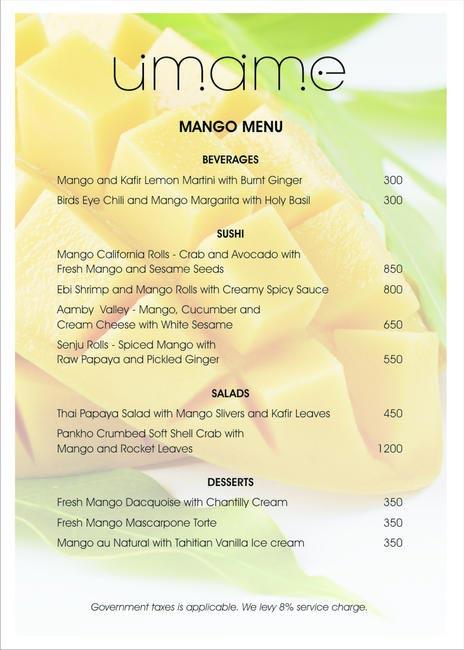 Umame - Mango Menu