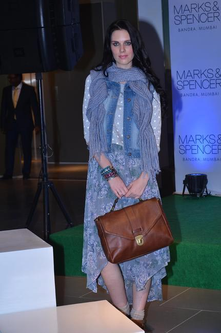 4. Model at the fashion show during the official opening of M&S Bandra Store, Mumbai