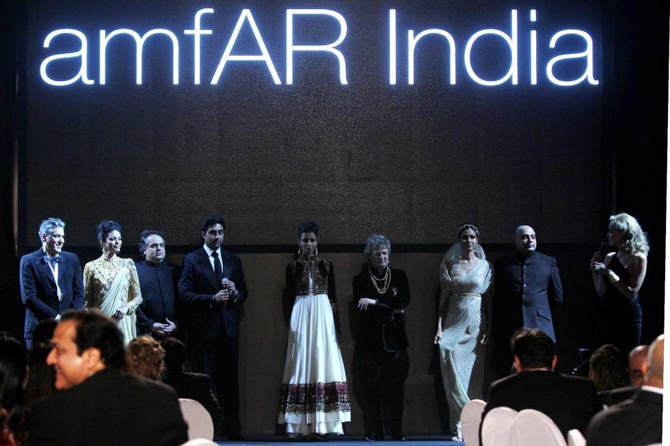 Abhishek Bachchan at Gold Fashion Show at amfAR India