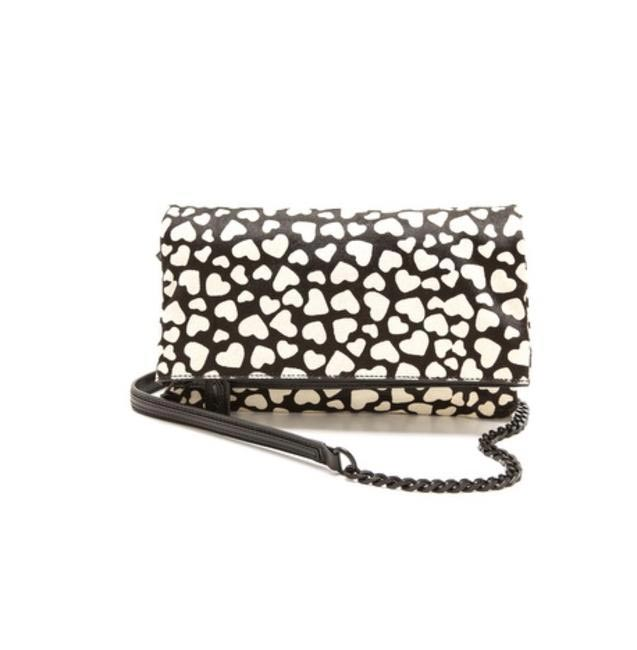 Alice + Olivia hearts clutch