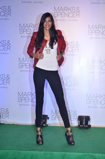 Anushka Manchanda at the fashion show during the official opening of M&S Bandra Store, Mumbai