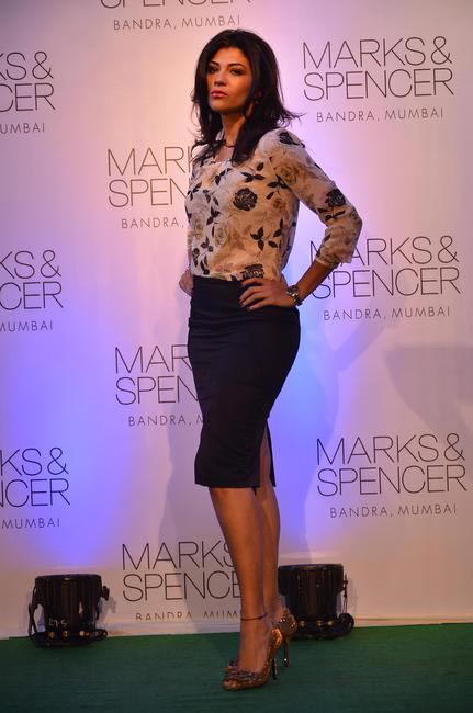 Archana Vijaya at the fashion show during the official opening of M&S Bandra Store, Mumbai