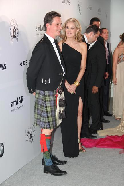 At amfAR India - Sharon Stone & Torquhil Ian Campbell, the 13th Duke of Argyll and Global Ambassador for Chivas Brothers Scotch Whiskies