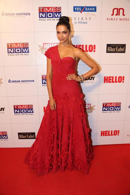 Deepika Padukone in a Jade dress at Hello! Hall Of Fame Awards
