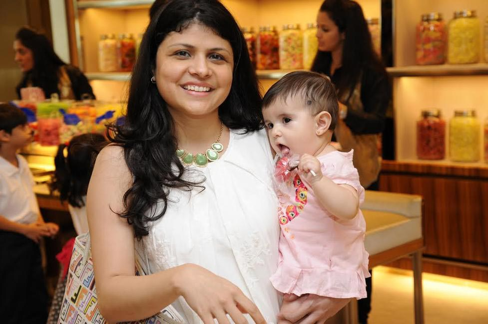 Grazia Editor Mehernaaz Dhondy with her daughter