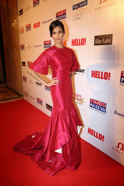Host for the evening Poorna Jagannathan in Gauri & Nainika at Hello! Hall Of Fame Awards
