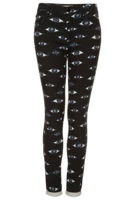 Moto Eye Prints Jeans by Topshop
