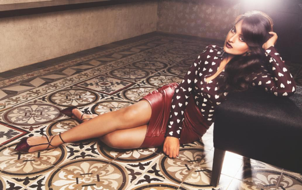 Our November cover girl Sonakshi Sinha in Burberry heart print silk shirt