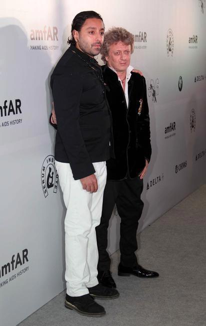 Vikram Chatwal and Rohit bal at the amFar gala event