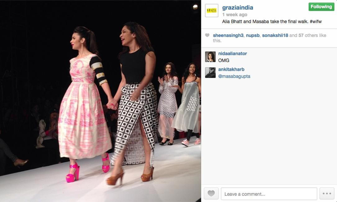Alia Bhatt and Masaba Gupta at WIFW
