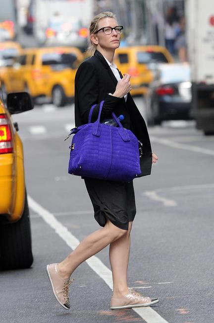 Cate Blanchett with her D-Bag in NYC